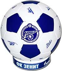 Мяч сувенирный Зенит белый