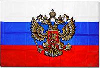 Флаг России 90 х 135 Герб 2