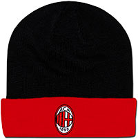 Шапочка черно-красная Милан