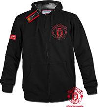 Толстовка официальная черная Манчестер Юнайтед