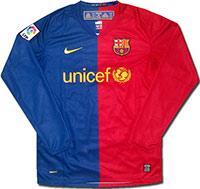 Майка домашняя Барселона 08-09 Nike (дл. р.)
