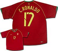 Майка домашняя сборной Португалии - Ronaldo 06-07 Nike
