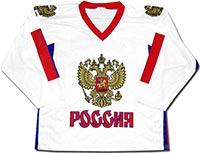 Свитер хоккейный Россия 2 (бело-синий)