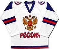 Свитер хоккейный Россия 1 (бело-синий)
