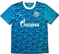 Майка игровая Зенит 2011-12 Nike голубая