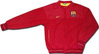 Куртка легкая Барселона красная 08-09 Nike