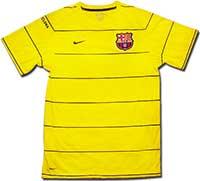 Майка тренировочная Барселона 08-09 Nike желтая