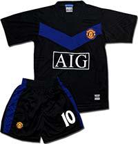 Форма детская Манчестер Юнайтед черная