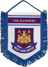 Вымпел 2 Вест Хэм Юнайтед 22 х 17