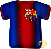 Подушка официальная Барселона Антистресс большая
