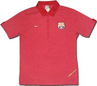 Поло красное Барселона 07-08 Nike