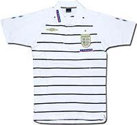 Поло белое сборной Англии Stripe 08-09 Umbro