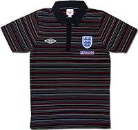 Поло темно-синее сборной Англии Stripe 09-10 Umbro