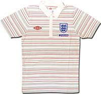 Поло серое сборной Англии Stripe 09-10 Umbro