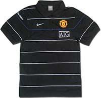 Поло черное Манчестер Юнайтед 08-09 Nike