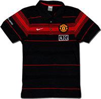 Поло черное Манчестер Юнайтед 09 Nike