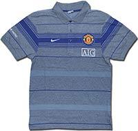 Поло серое Манчестер Юнайтед 09 Nike