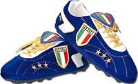 Тапочки в виде бутс Италия синие