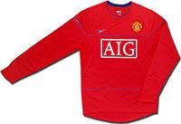 Свитер легкий Манчестер Юнайтед 08-09 Nike красный