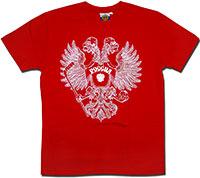 Футболка красная Россия Орел