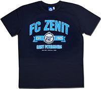 Футболка темно-синяя Зенит 1925