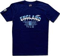 Футболка темно-синяя Англия Striped 09 Umbro