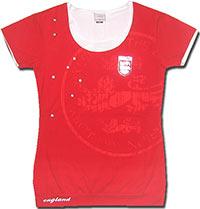 Футболка женская Англия 07 Umbro красная