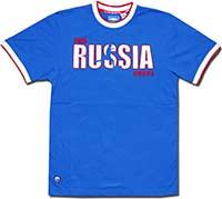 Футболка синяя Россия Fan 09 Umbro
