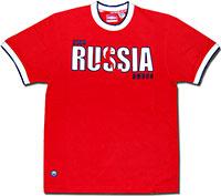 Футболка красная Россия Fan 09 Umbro
