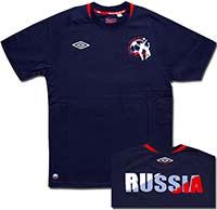 Футболка темно-синяя Россия Mens 2010 Umbro