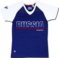 Футболка женская Россия 09 Umbro темно-синяя